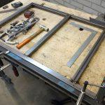 Stalen frame voor keuken